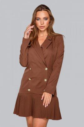 Сукня-піджак з плісе