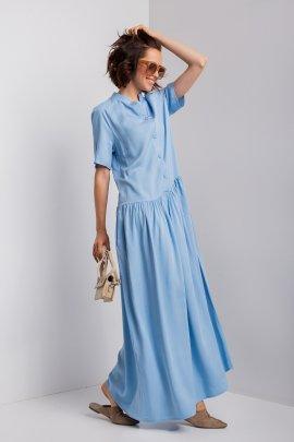 Сукня-сорочка максі довжини