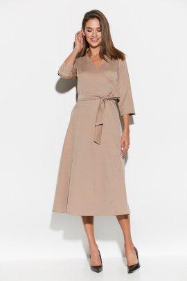 Стильна сукня міді на запах