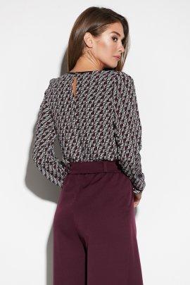 Блуза з декорованим отворотом