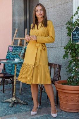Платье-пиджак с плиссе
