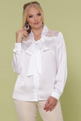 Блуза великого розміру з бантом