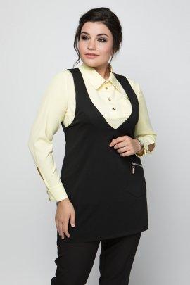 Блуза з контрастною кокеткою